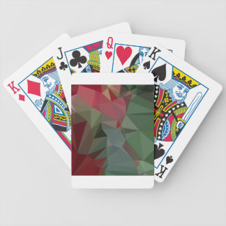 Deep Carmine Pink Abstract Low Polygon Background Bicycle Playing Cards
