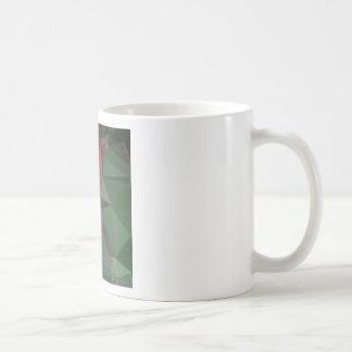 Deep Carmine Pink Abstract Low Polygon Background Coffee Mug