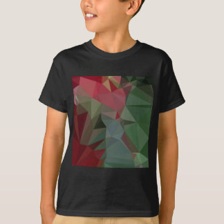 Deep Carmine Pink Abstract Low Polygon Background T-Shirt