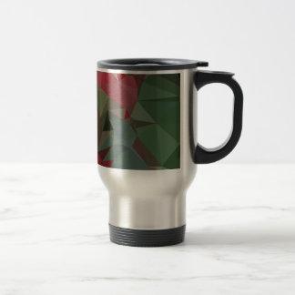Deep Carmine Pink Abstract Low Polygon Background Travel Mug