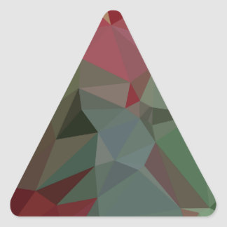 Deep Carmine Pink Abstract Low Polygon Background Triangle Sticker