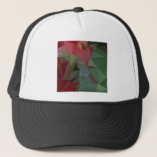 Deep Carmine Pink Abstract Low Polygon Background Trucker Hat