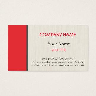 Deep carmine pink professional elegant modern business card