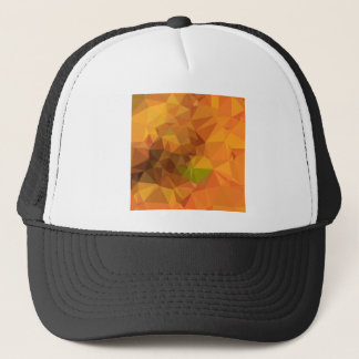 Deep Carrot Orange Abstract Low Polygon Background Trucker Hat
