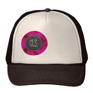 Deep Cerise Camo; Camouflage; Chalkboard Hat