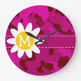 Deep Cerise Camo; Camouflage.gif Clocks