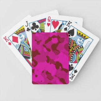Deep Cerise Camo; Camouflage Poker Deck