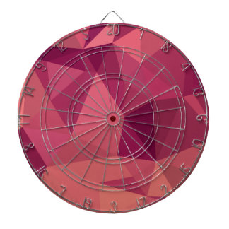Deep Cerise Purple Abstract Low Polygon Background Dartboard With Darts