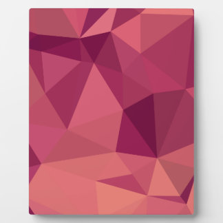 Deep Cerise Purple Abstract Low Polygon Background Plaque