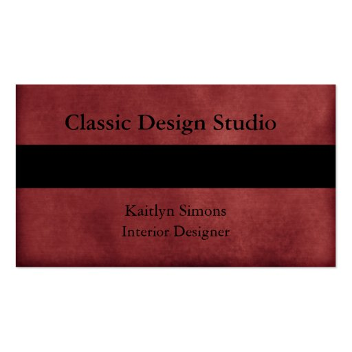 Deep Cherry Red Business Cards