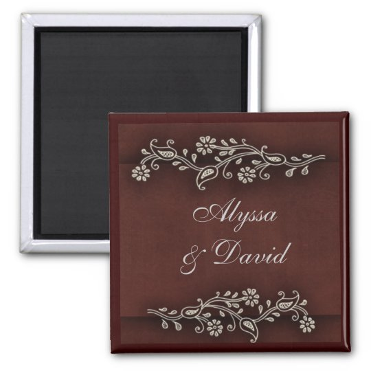 Deep chocolate brown Indian accent Magnet
