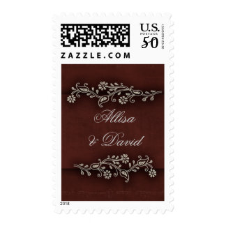 Deep chocolate brown Indian accent Postage