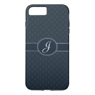 Deep Classic Navy Custom Monogram iPhone 7 Case