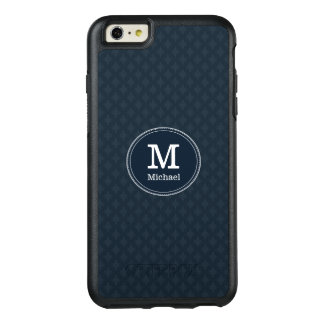 Deep Classic Navy Custom Monogram OtterBox iPhone 6/6s Plus Case