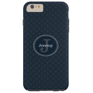 Deep Classic Navy Custom Monogram Tough iPhone 6 Plus Case