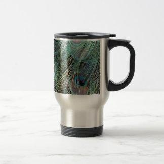 Deep Color peacock feathers Travel Mug