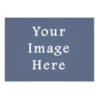 Deep Confederate Blue Color Trend Blank Template 5x7 Paper Invitation Card