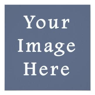 Deep Confederate Blue Color Trend Blank Template 5.25x5.25 Square Paper Invitation Card
