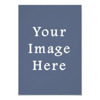 Deep Confederate Blue Color Trend Blank Template 3.5x5 Paper Invitation Card