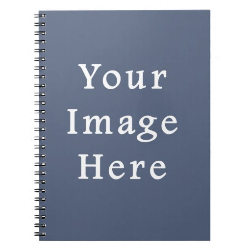 Deep Confederate Blue Color Trend Blank Template Note Book