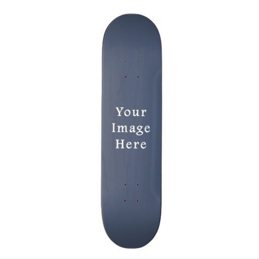 Deep Confederate Blue Color Trend Blank Template Skate Decks