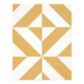 Deep Cool Gold Geometric Deco Scrapbook Paper