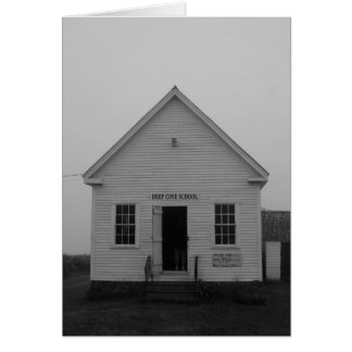 Deep Cove School House, Grand Manan Greeting Card