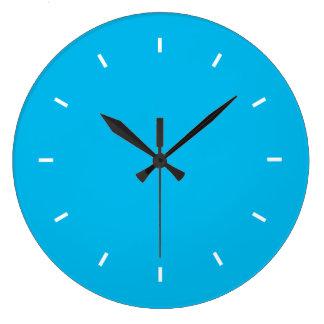Deep Cyan Top One Color Large Clock