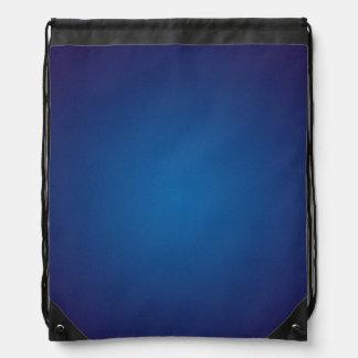 Deep Dark Blue Grainy Vignette Drawstring Bag