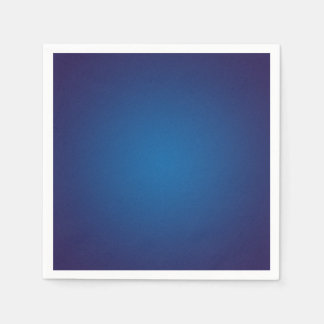 Deep Dark Blue Grainy Vignette Napkin