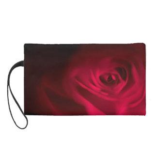 Deep Dark Gothic Red Rose Wristlet Clutch