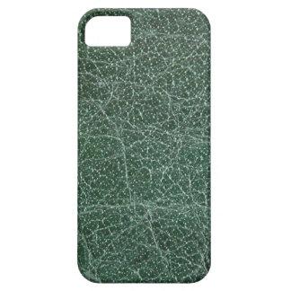 Deep Dark Green on Leather Finish iPhone SE/5/5s Case