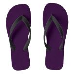 Deep Dark Purple Flip Flops
