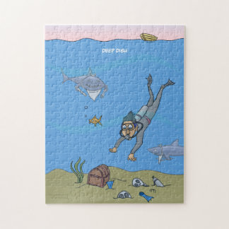 Deep Dish Diver Jigsaw Puzzle