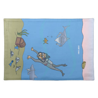 Deep Dish Diver Placemat