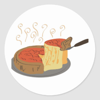 Deep Dish Pizza Classic Round Sticker