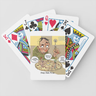 Deep Dish Pizza Funny Philosophical Bicycle Playing Cards