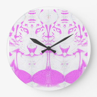deep dream albino large clock