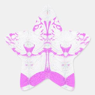 deep dream albino star sticker