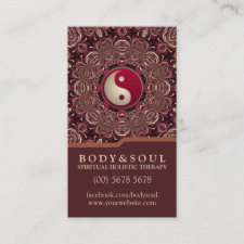 Deep Earth Holistic Therapy New Age Business Cards