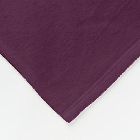 Deep Eggplant Fleece Blanket
