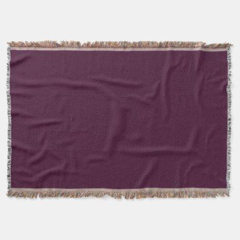 Deep Eggplant Throw Blanket