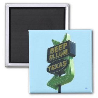 DEEP ELLUM TEXAS sign magnet