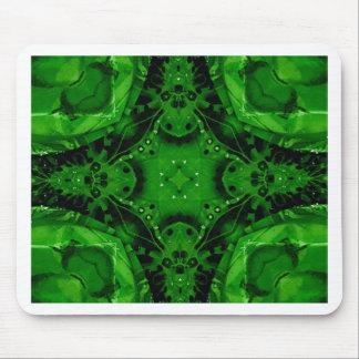 Deep Emerald Green Cross Shaped Design Mouse Pad