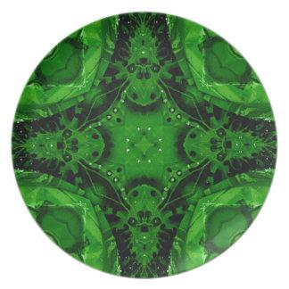 Deep Emerald Green Cross Shaped Design Plate