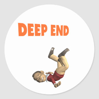 Deep End Classic Round Sticker