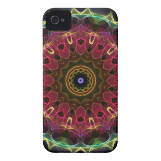 Deep Flower with Leaves iPhone 4 Case
