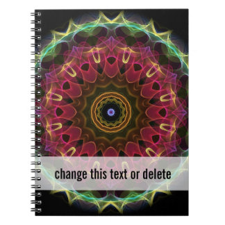 Deep Flower with Leaves Notebook