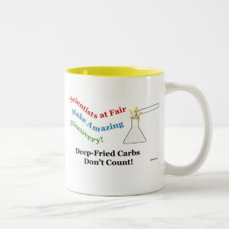 Deep-Fried Carbs Don't Count! Two-Tone Coffee Mug