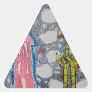 Deep Fried Chicken Feet Triangle Sticker